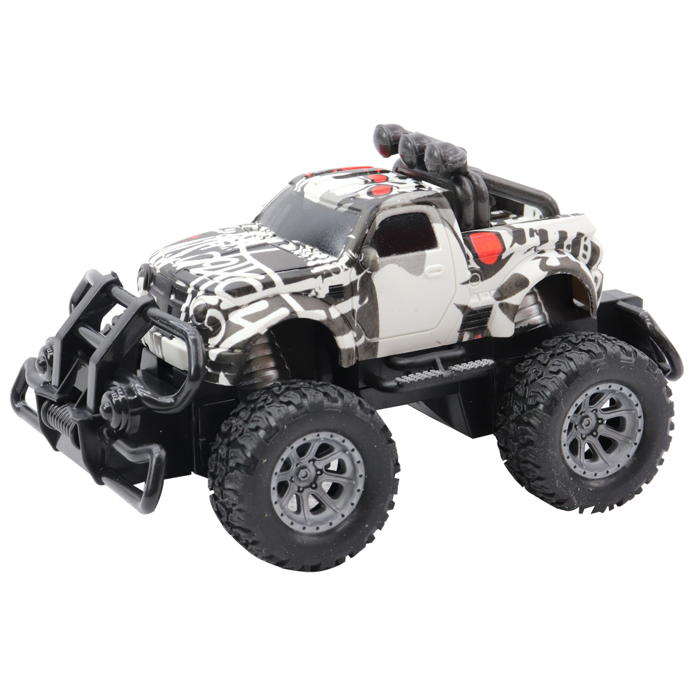 4 Function R/C White Rock Off Road Car