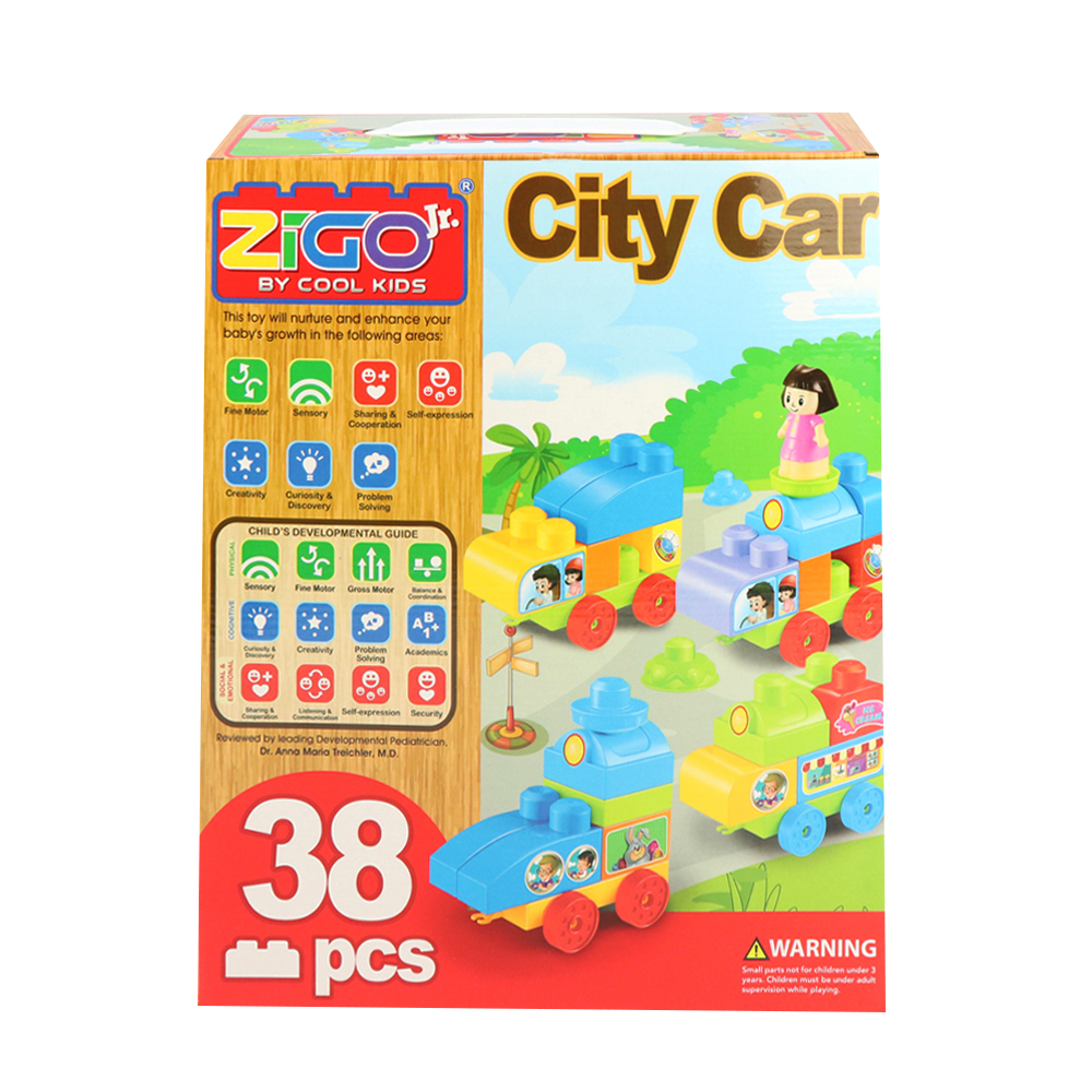 ZIGO Jr. City Car Building Blocks