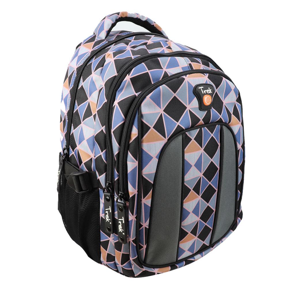 """Trek Diamond Gray and Black 17"""" Backpack"""