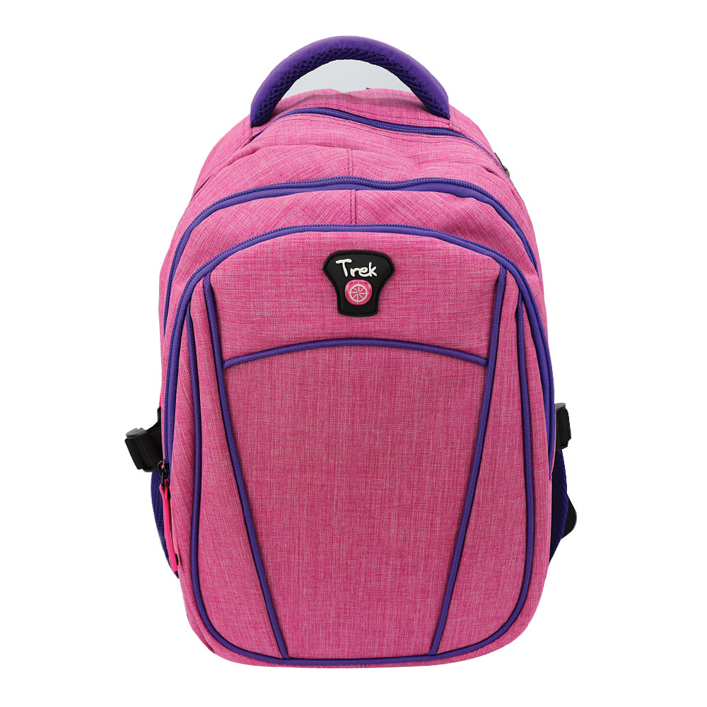 "Trek Fuchsia and Purple 17"" Backpack"