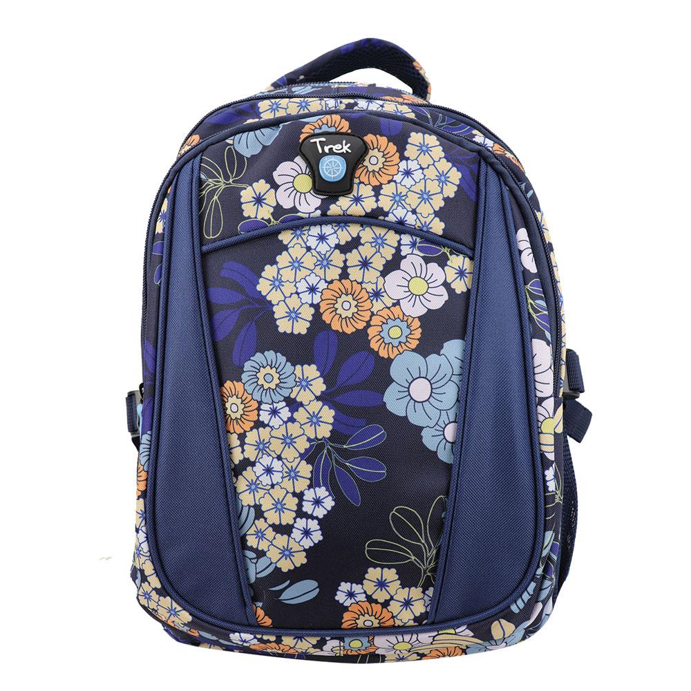 """Trek Floral Blue 17"""" Backpack"""