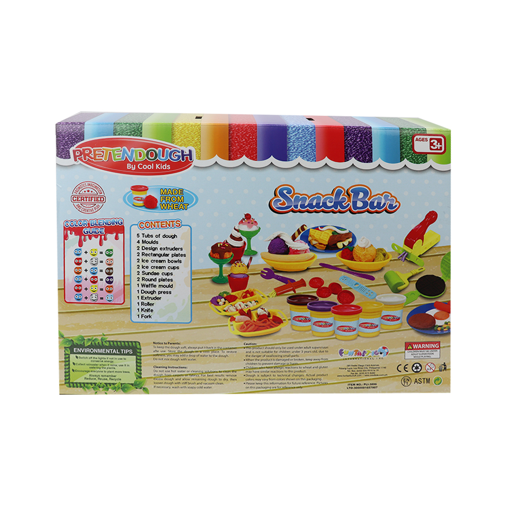 Pretendough Snack Bar Playset