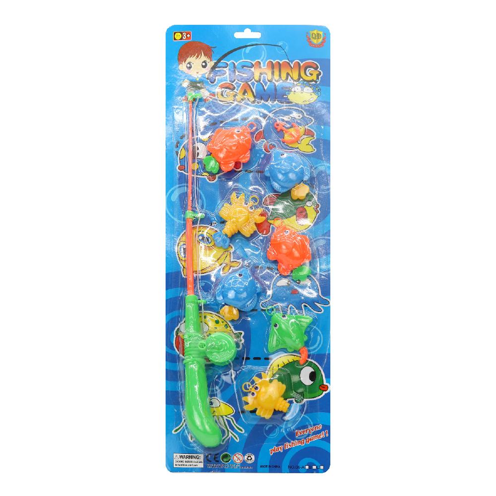 Fishing Set with 7 Sea Animals